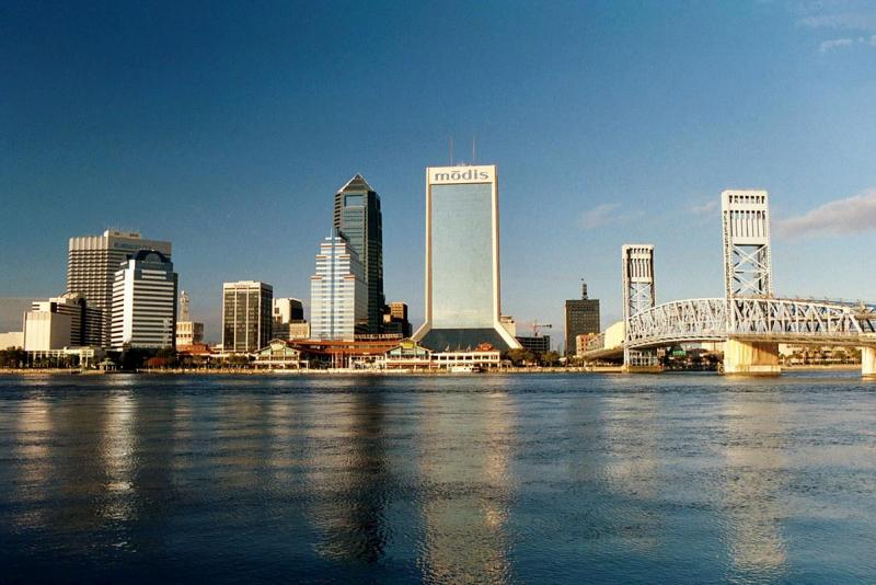 View of Jacksonville from a marina on the St. John's River.