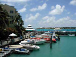View from a marina in the Florida Keys