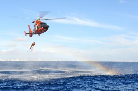 Coast Guard Crews Search for Missing Diver off Key Biscayne